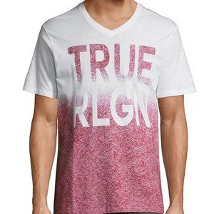 True Religion Double Ombre V neck Shirt Acid wash